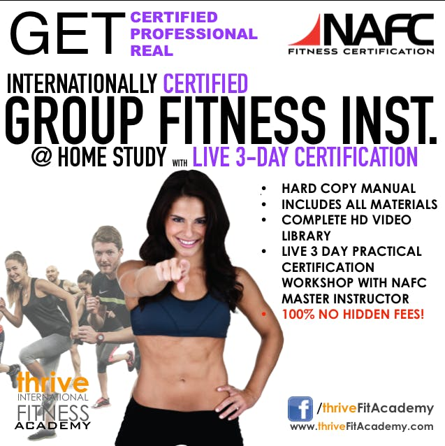 Nafc Group Fitness Instructor Certification Weekend Course 30 Nov 2018