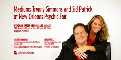 Mediums Trenny Simmons and Sid Patrick at New Orleans Psychic Fair