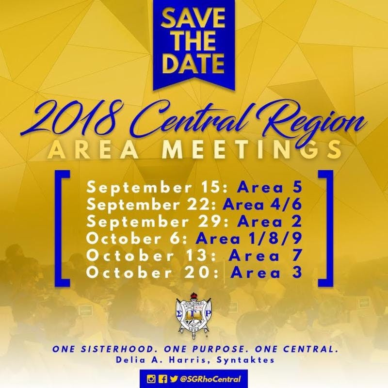 2018 Central Region Area Meetings