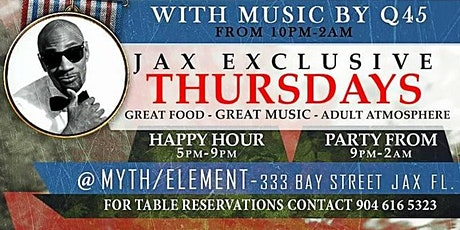 J.E.T. Thursdays at Myth + Element (Happy Hour) Hosted By Crown Capitol Group tickets
