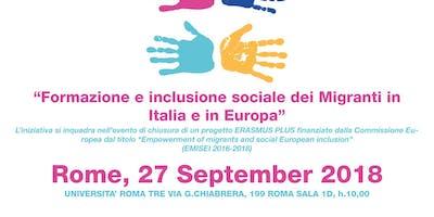 Formazione e inclusione sociale dei migranti in Europa