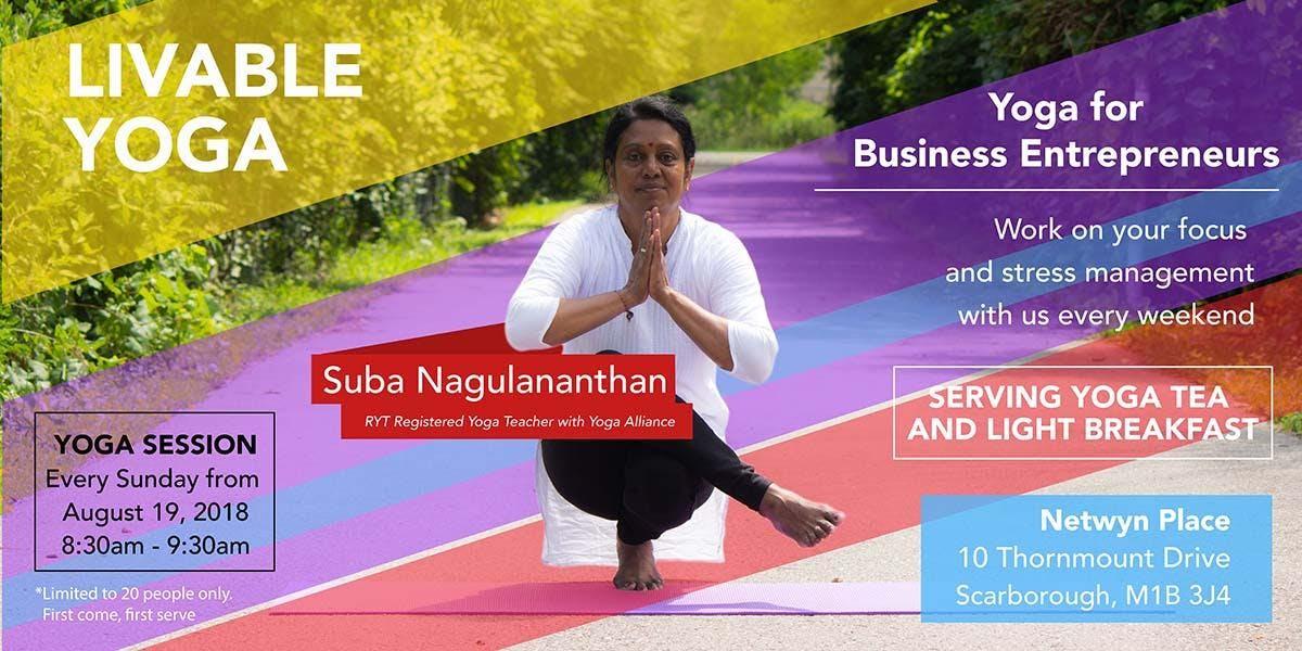 Livable Yoga for Business Entrepreneurs
