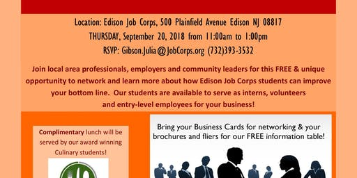 Middlebush nj networking events eventbrite edison job corps community relations luncheon reheart Image collections