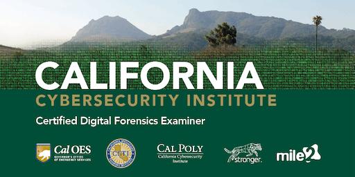 C)DFE — Certified Digital Forensics Examiner /OnSite/ August 26-30, 2019