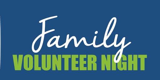 Family Volunteer Night