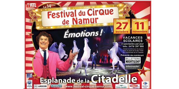 Festival du Cirque de Namur - Samedi 27/10 14