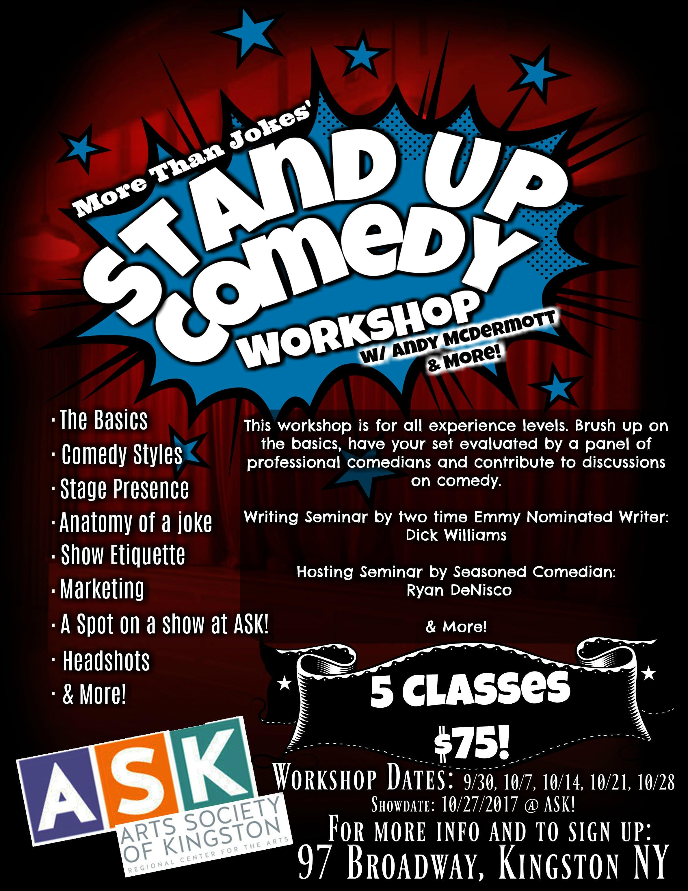 MTJs Stand Up Comedy Workshop! at Arts Society of Kingston, Kingston