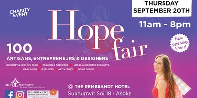 The Hope Fair! Back from Summer Break! New schedul