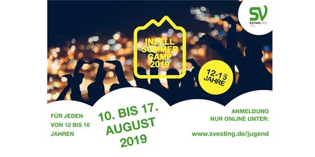 SV Esting INZELL 2019 Sommer Camp 12 - 16 Jahre Tickets