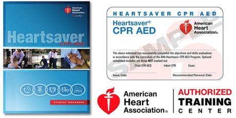Dept. of PT Heartsaver CPR/AED Class tickets