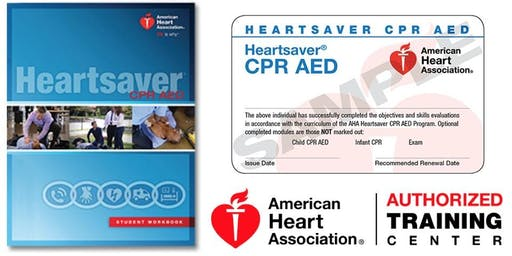 Dept. of PT Heartsaver CPR/AED Class