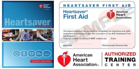 Dept. of PT Heartsaver First Aid Class tickets