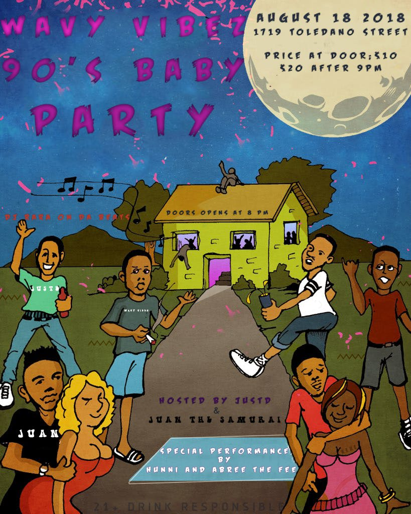 Wavy Vibez 90's baby Party