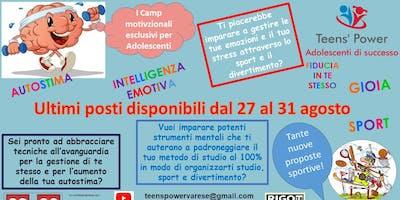 Camp Motivazionale esclusivo per Adolescenti - Formula: Tutta l'Italia