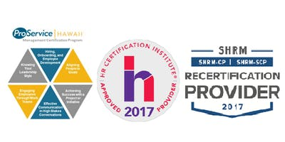 Public Event - ProService Hawaii Management Certification Program - Session 3 of 3 (Oahu - Q4)