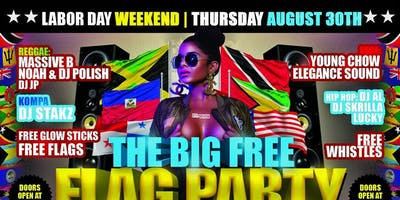 LABOR DAY WEEKEND THE BIG #FREE FLAG PARTY THURSDAY AUG 29TH AMAZURA