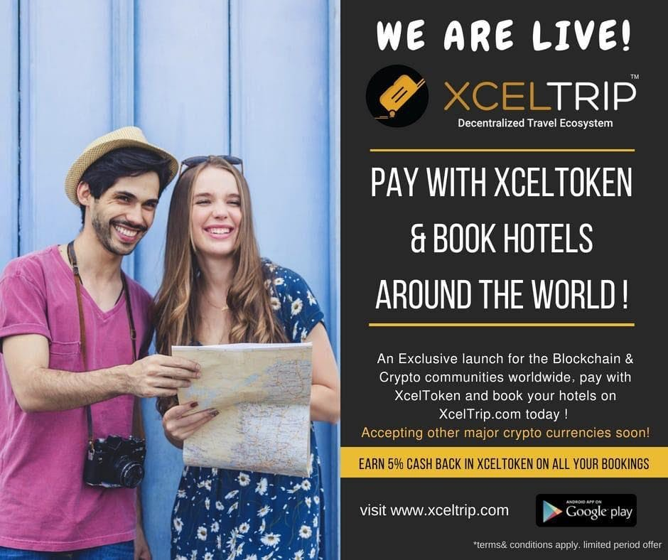 ''Blockchain , Cryptocurrency , XcelTrip and