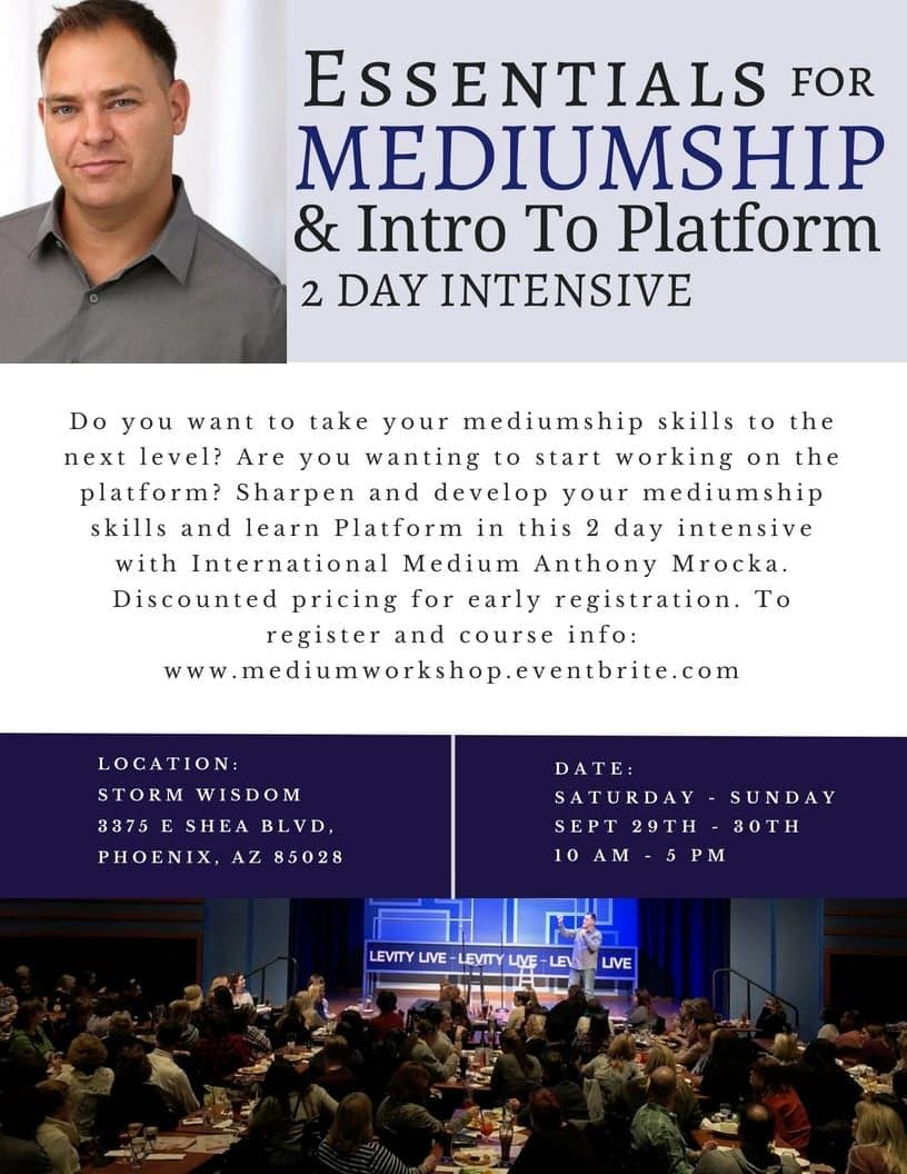 Essentials for Mediumship & Intro to Platform Phoenix, AZ