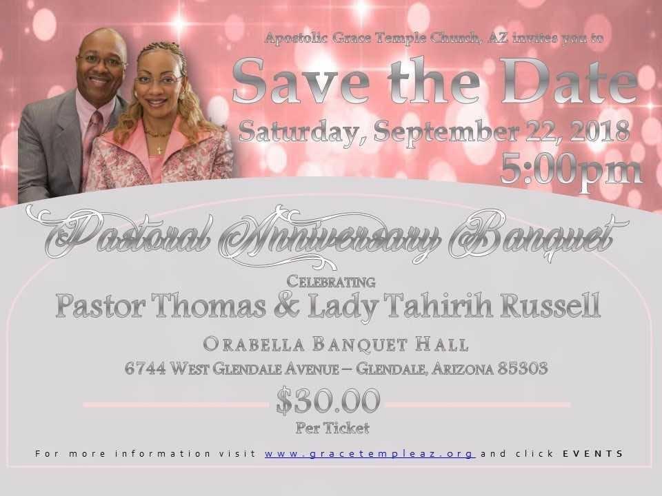 Pastoral Anniversary Banquet
