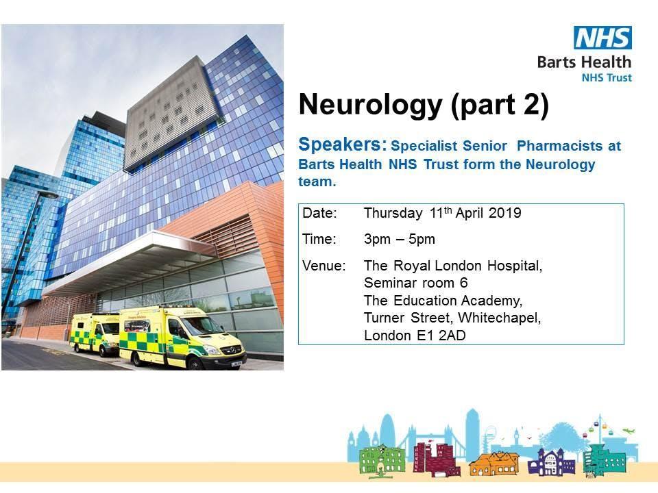 Clinical Teaching for Pre-reg Trainee Pharmaicsts: Neurology (part 2)