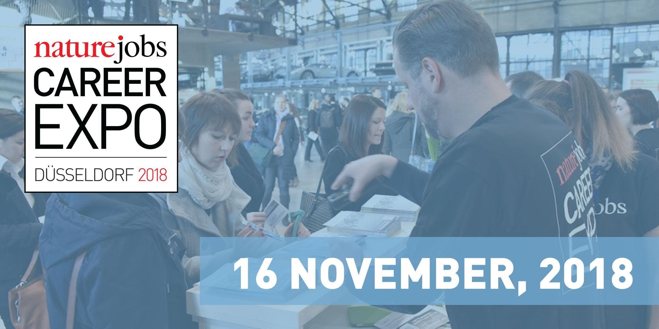 Naturejobs Career Expo Düsseldorf / Friday, November 16 9:30 AM - 5