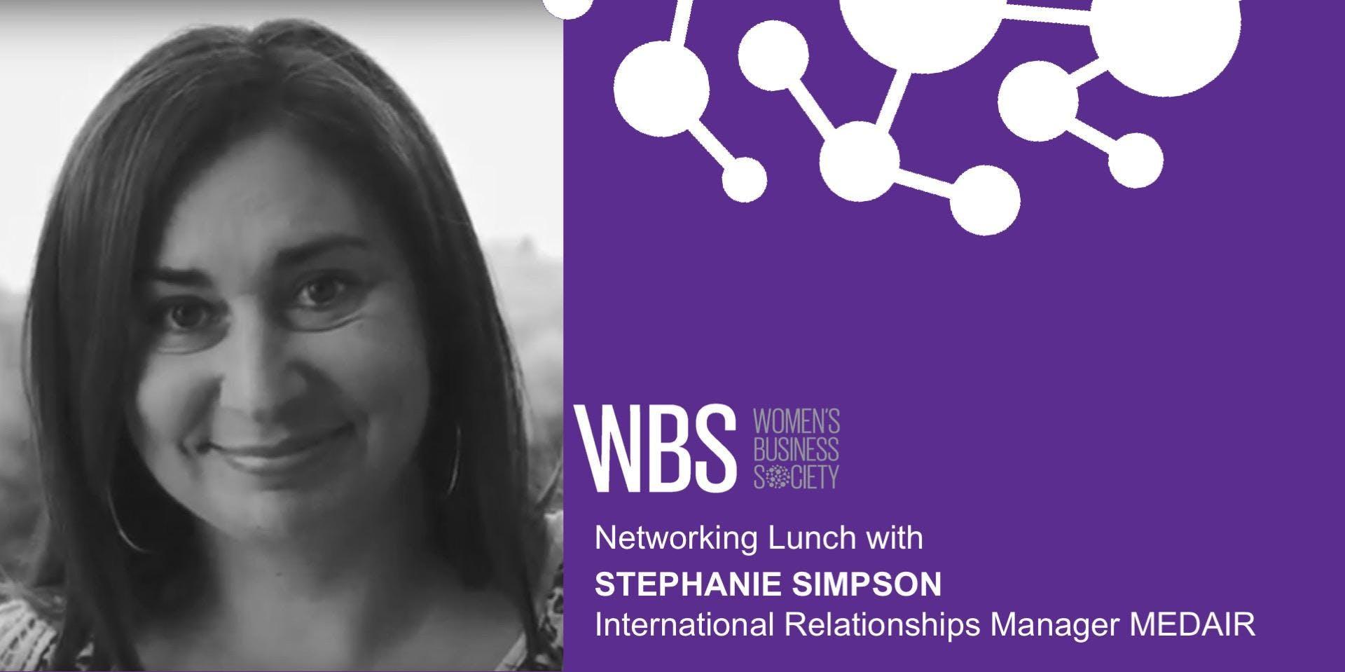 Lausanne - Déjeuner-discussion avec Stephanie Simpson