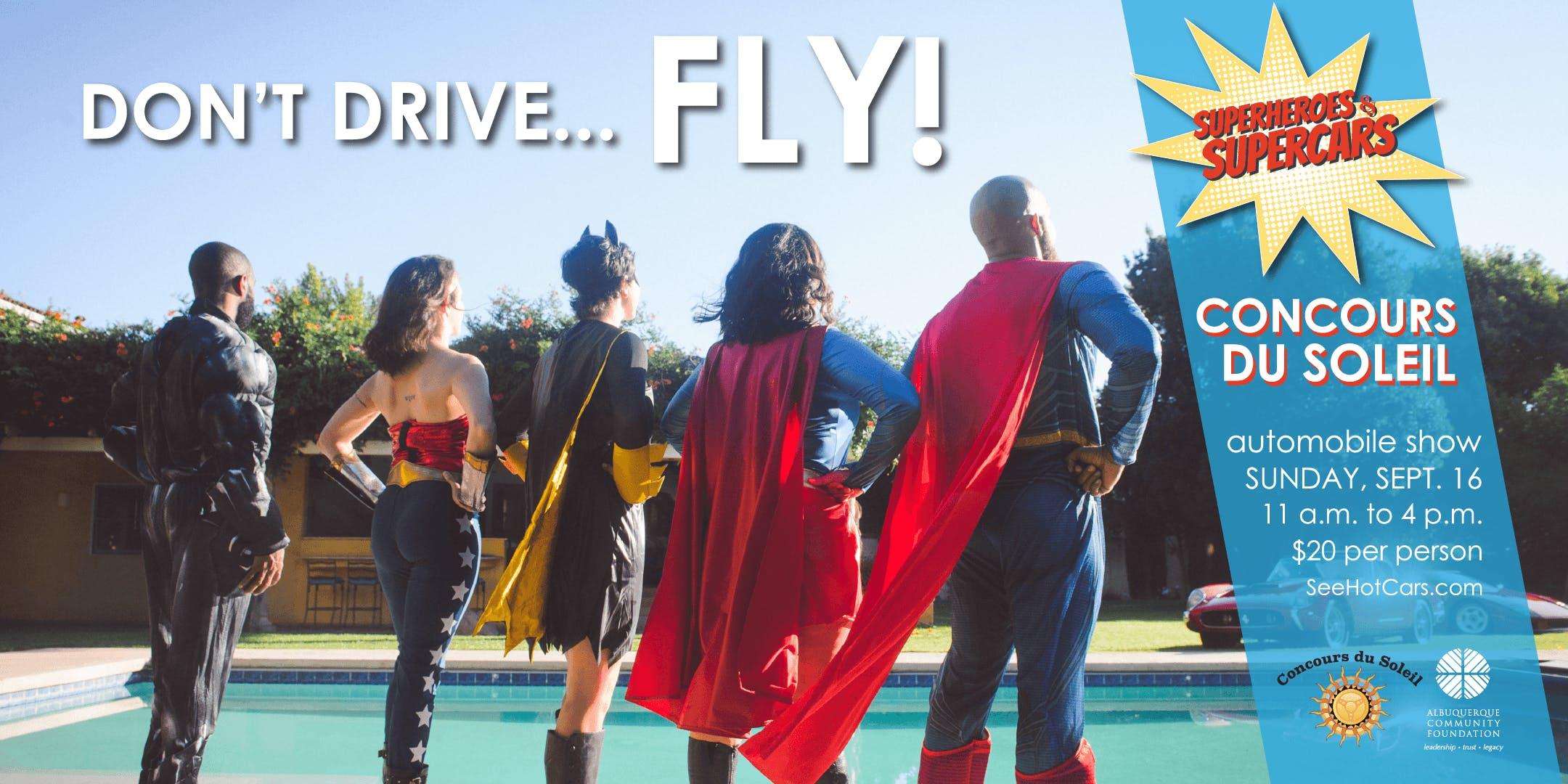 concours du soleil superheroes supercars public show 16 sep 2018