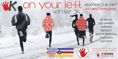 On Your Left Winter 5K @ Left Hand Brewing - RUN FOR BEER!