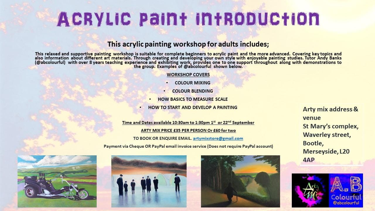 Acrylic painting introduction Adult workshop