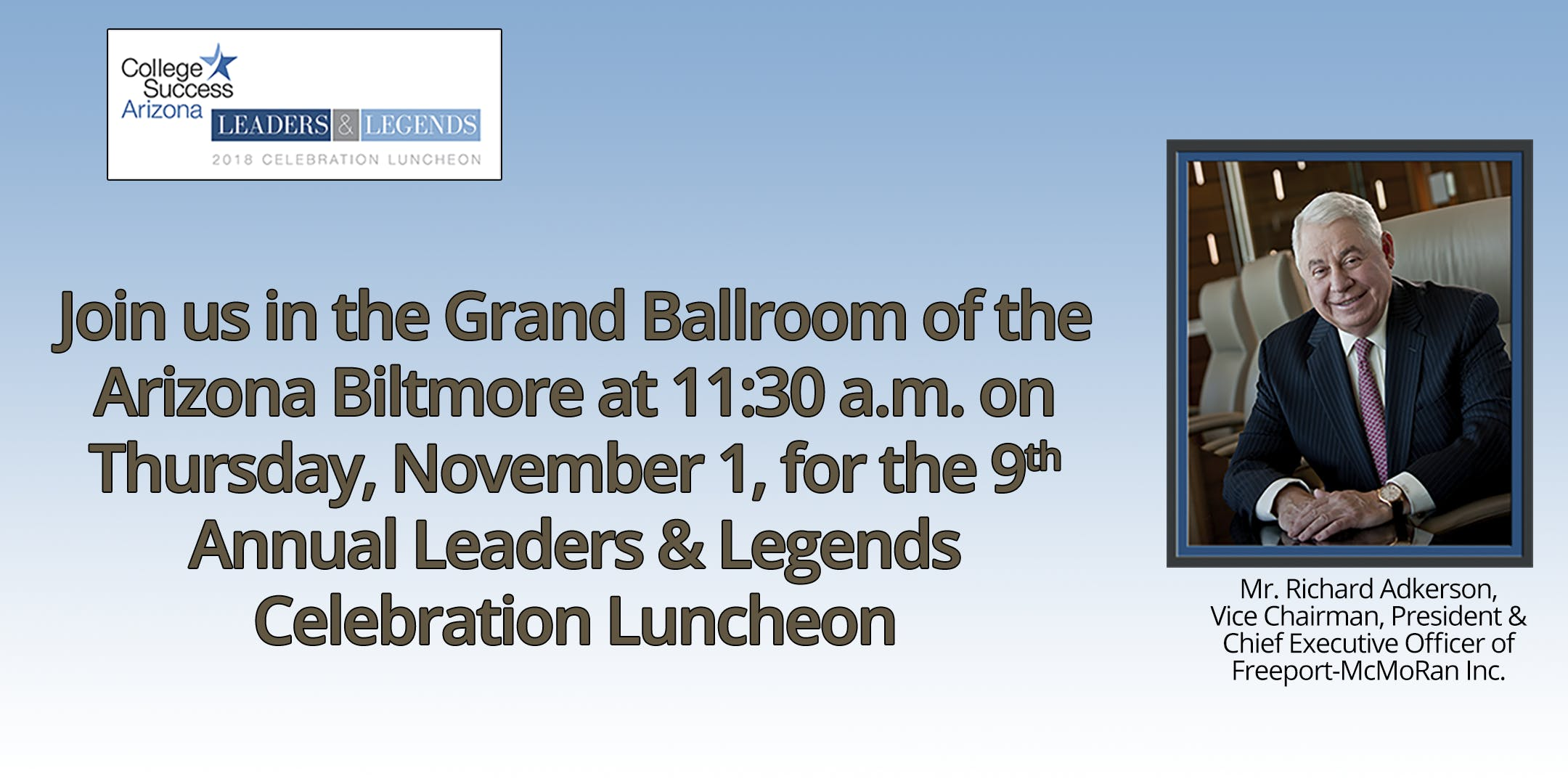 9th Annual Leaders & Legends Celebration Luncheon