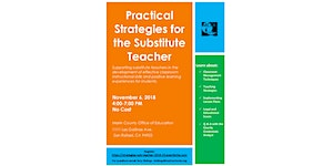 Practical Strategies for the Substitute Teacher