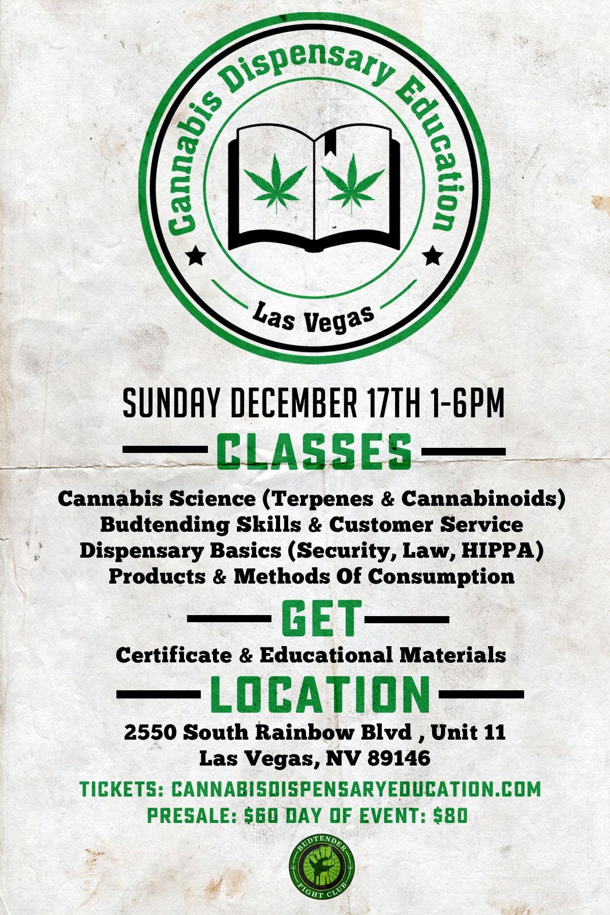 Cannabis Dispensary Education October 28th Las Vegas Get A Retail