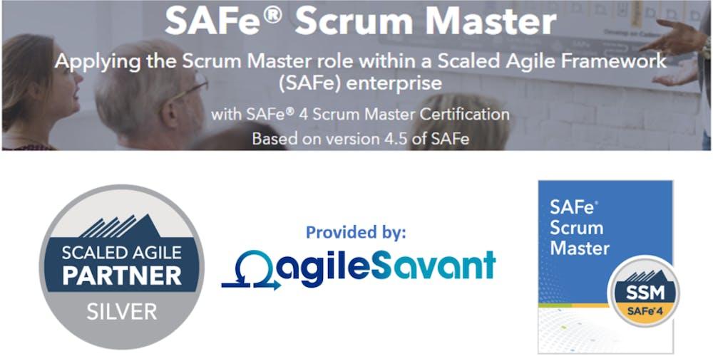 Safe 45 Scrum Master W Ssm Certification Tickets Sat Nov 10