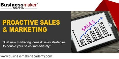 PROACTIVE MARKETING & SALES tickets