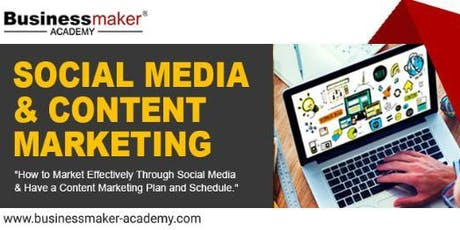 SOCIAL MEDIA & CONTENT MARKETING tickets