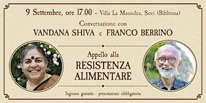 Conversazione con VANDANA SHIVA e FRANCO BERRINO