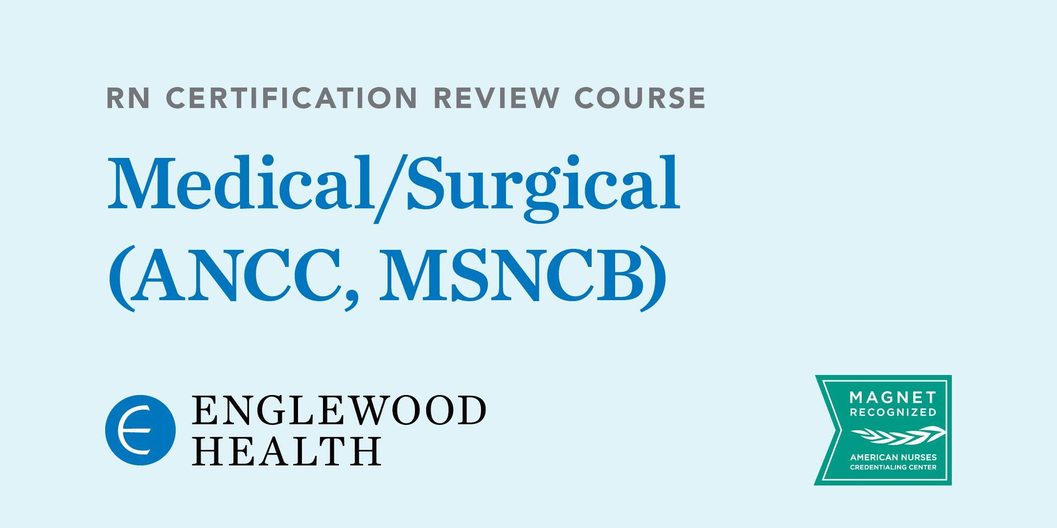 Rn Certification Review Course Medicalsurgical Ancc Msncb 15