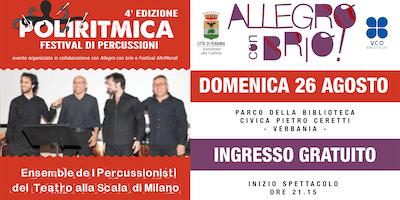 I Percussionisti della Scala di Milano in concerto @Verbania