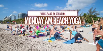 Monday AM Beach Yoga by Donation