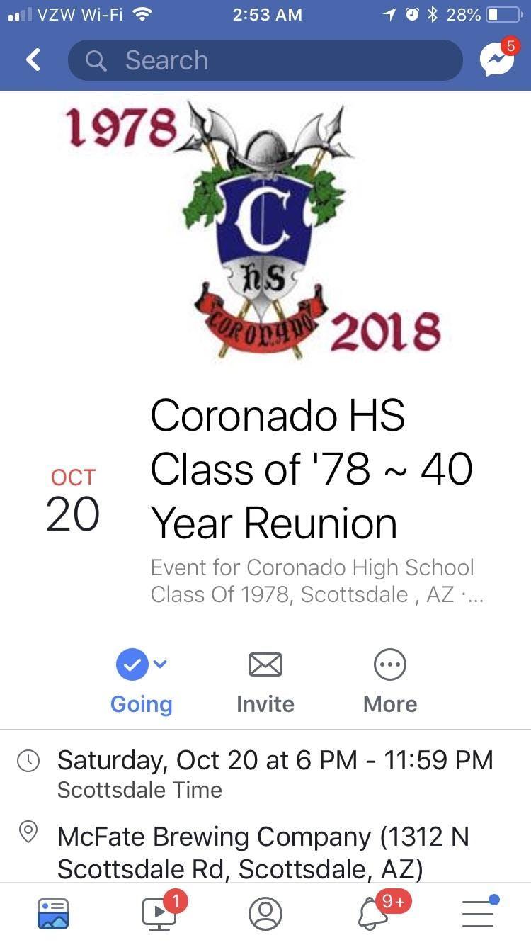 Coronado Class of '78 Reunion