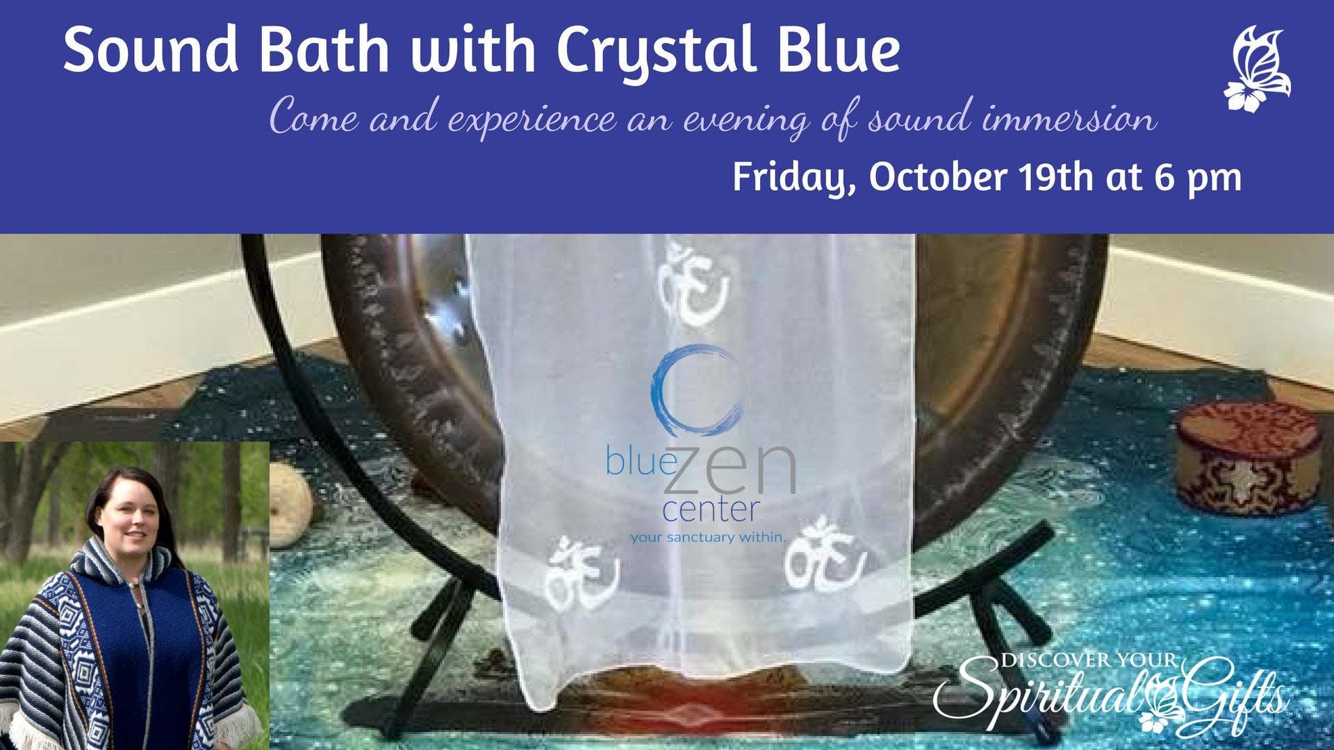 Sound Bath with Crystal Blue