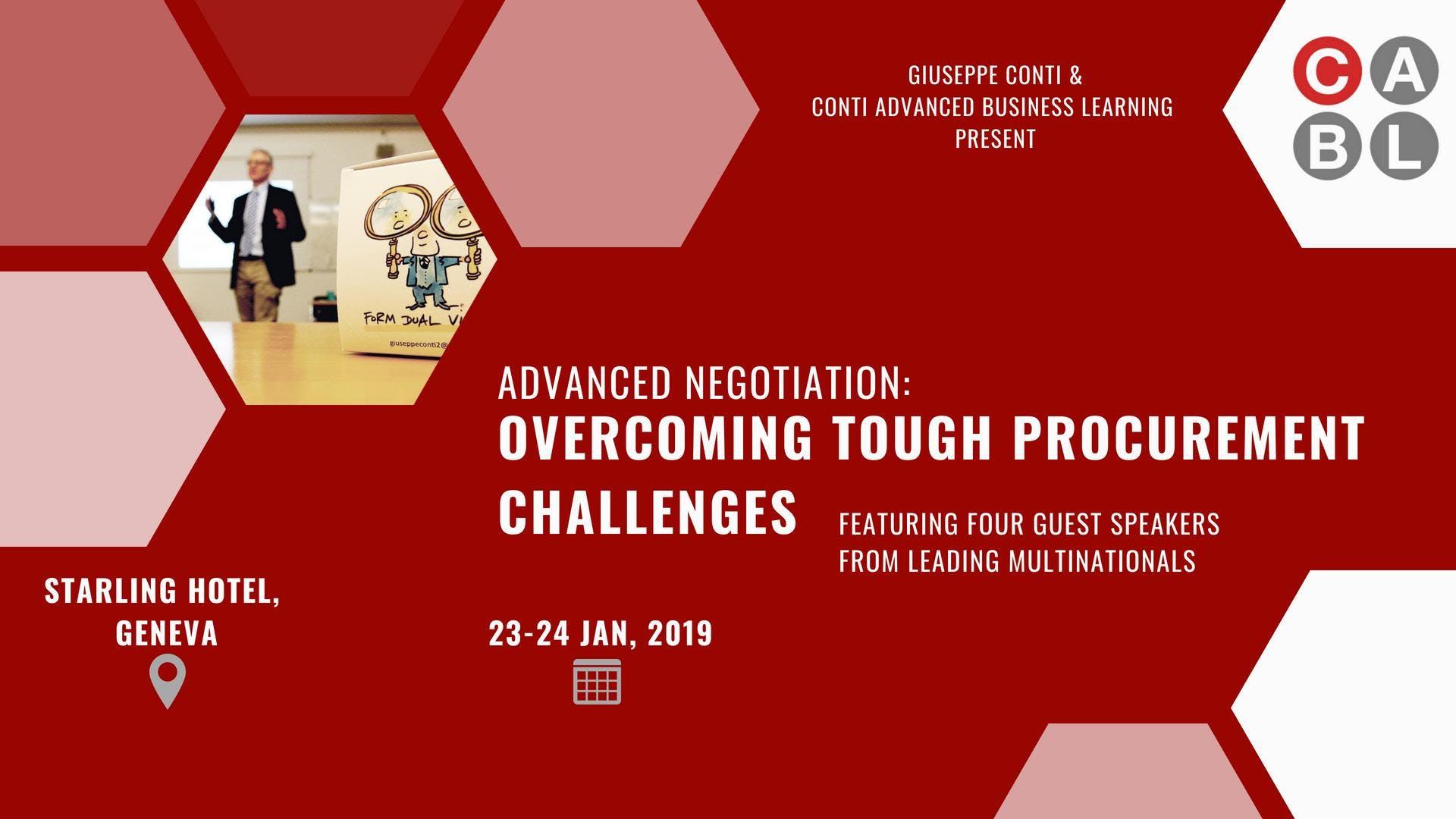 Advanced Negotiation: Overcoming Tough Procurement Challenges (2 Day Workshop)