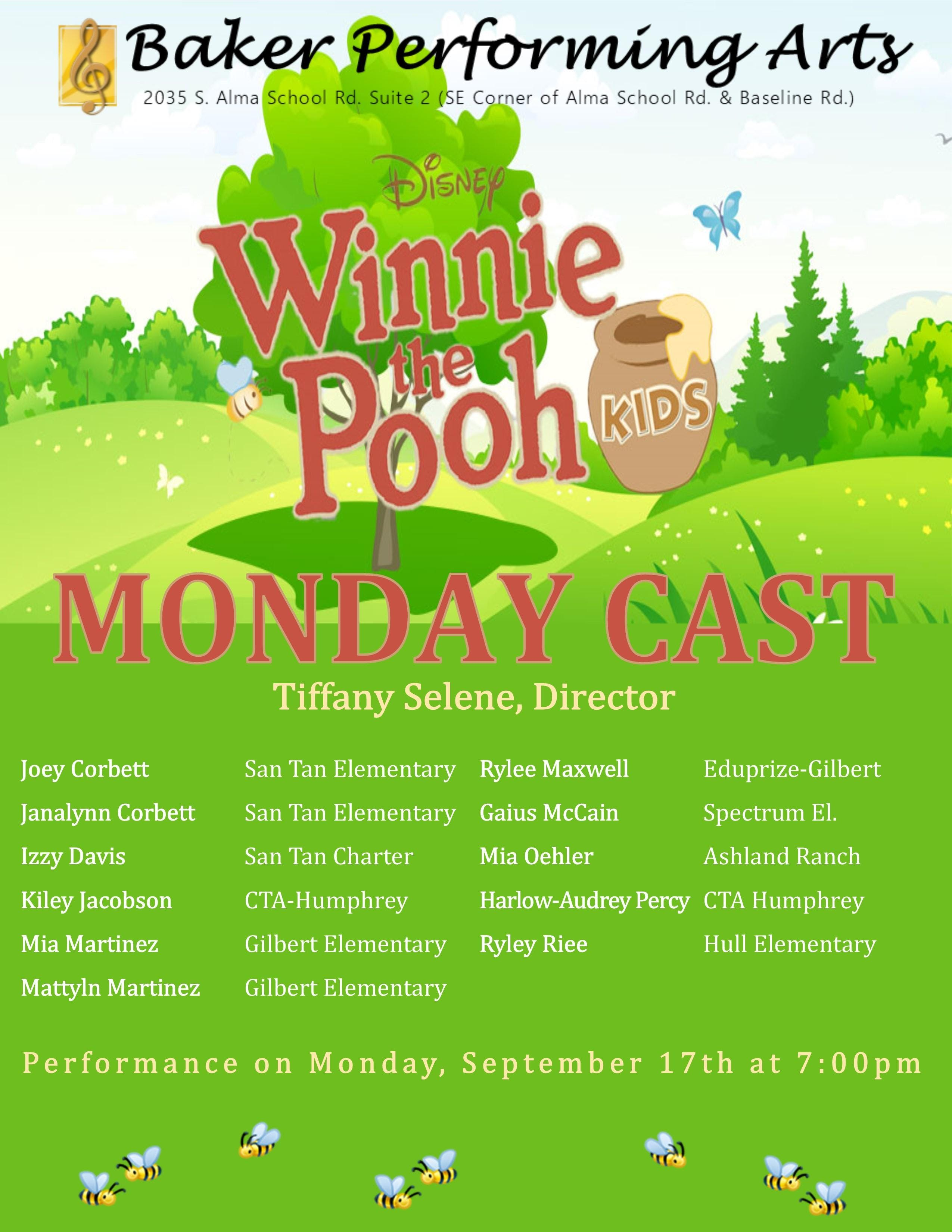 Winnie the Pooh KIDS Tickets Saturday, September 22nd at 7:00pm