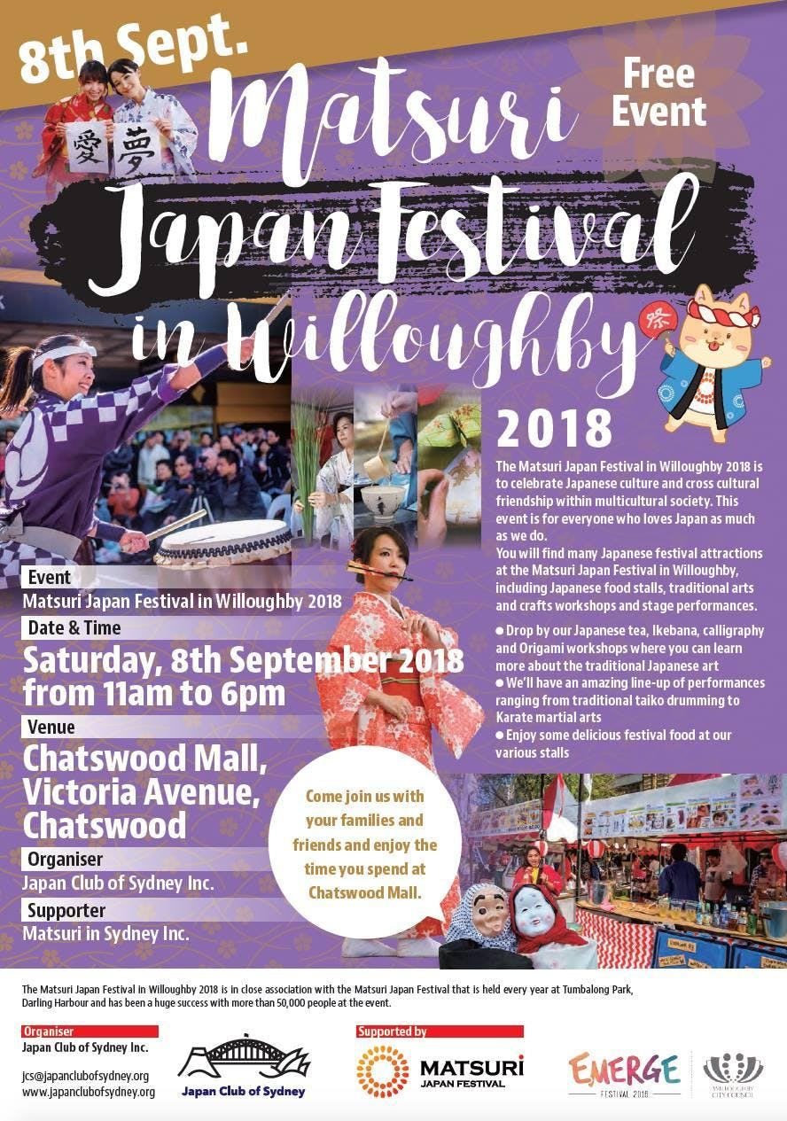 Matsuri Japan Festival in Willoughby 2018