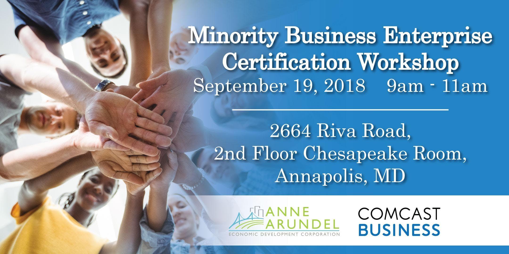 Minority Business Enterprise Certification Workshop 19 Sep 2018