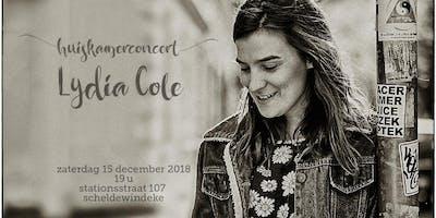 huiskamerconcert (house concert) met Lydia Cole