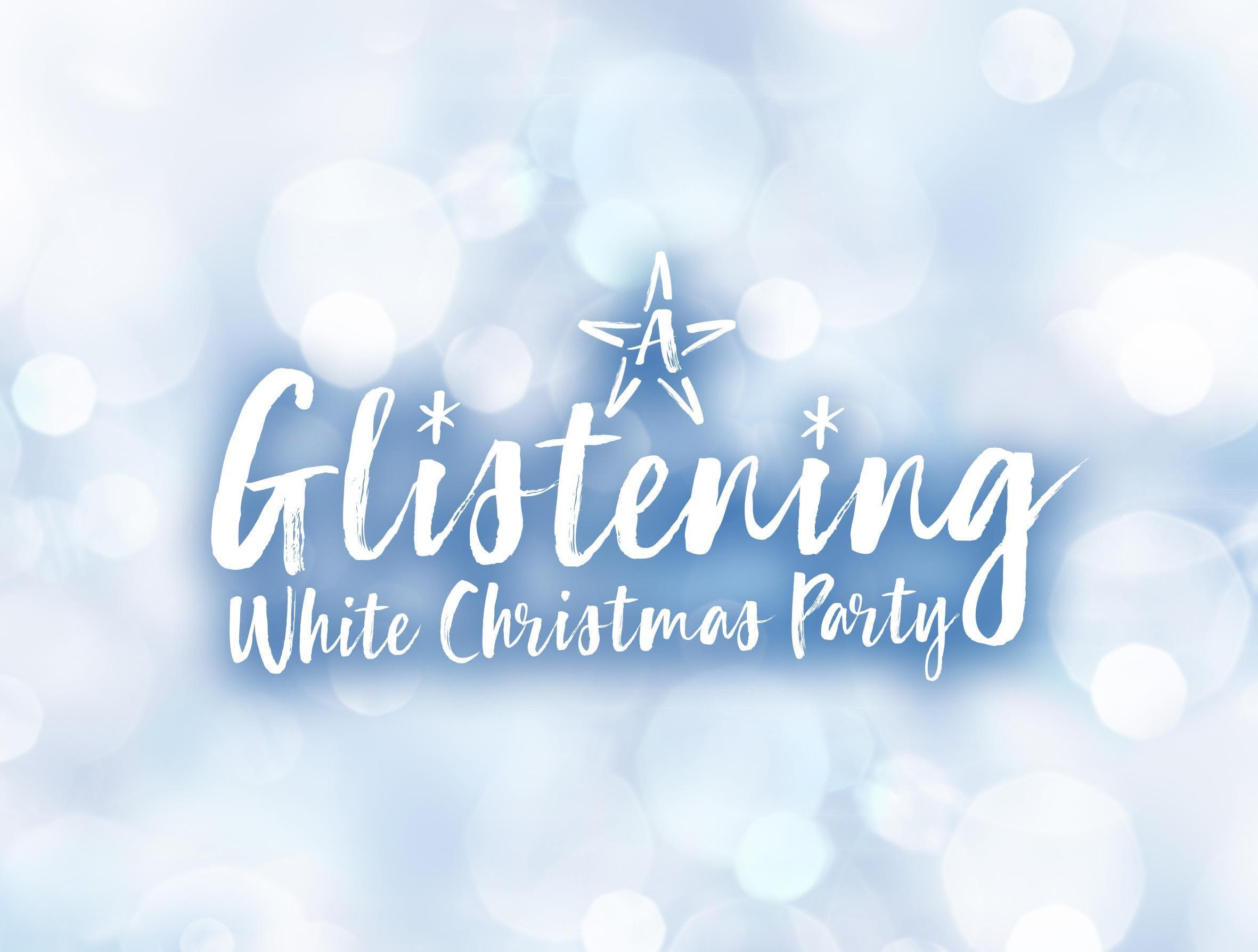 Glistening White Christmas Party Night