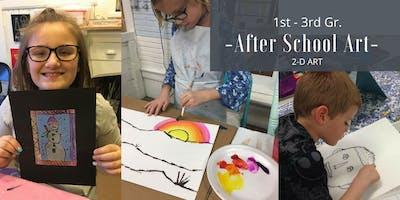 January   1st-3rd Gr. After School Art   2-D Art