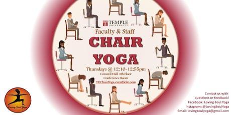 TU Faculty & Staff Chair Yoga Thursdays tickets