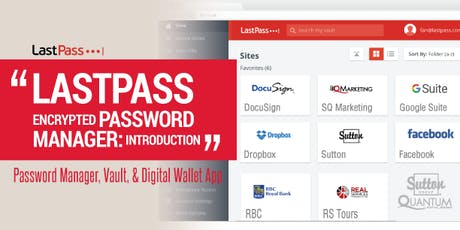 Class: LastPass (password manager) with Tammy Fitzgerald tickets